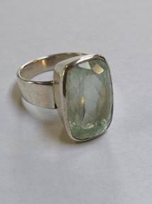 Zilveren aquamarijn ring