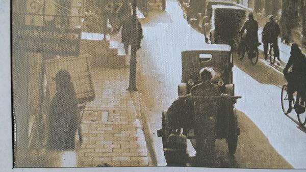 Foto op canvas van de Nieuwe Spiegelstraat in Amsterdam uit 1933