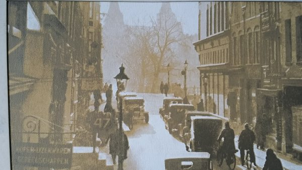 Amsterdam Spiegelstraat 1933 print op canvas