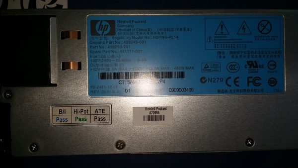 HP Power Supply 460W, HSTNS-PL14