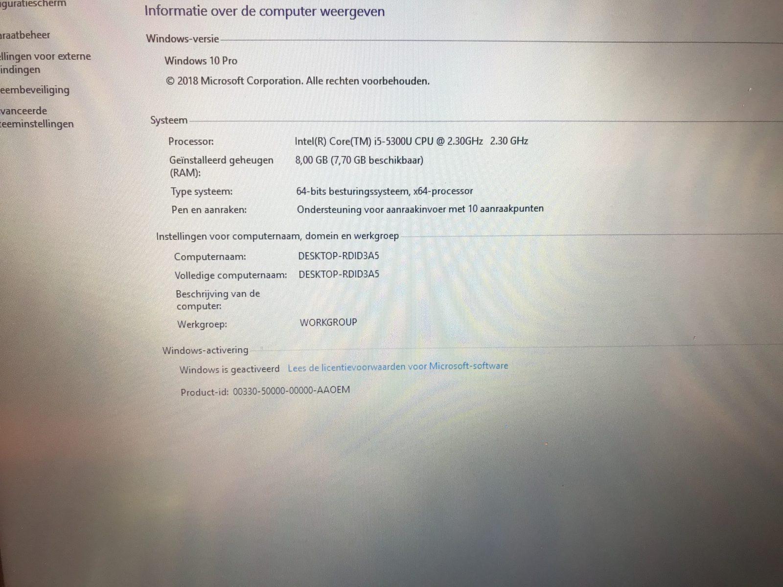 Lenovo Thinkpad T450 i5 5300 8gb 256gb ssd 14 inch IPS Touch